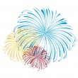 Stock Vector: Fireworks vector