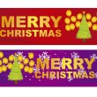 Merry christmas labels — Stock Vector