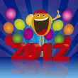 2012 happy face - Stock Vector