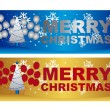 Merry christmas labels — Stock Vector #7426564