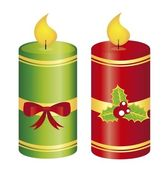 Candle christmas — Stock Vector