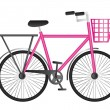 Stock Vector: Pink bicycle