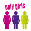 Only girls sign — Vettoriali Stock