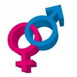3d men and women signs — Stock Vector #7630945