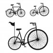 Bicycle silhouette — Stock Vector