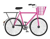 Pink bicycle — Stock Vector
