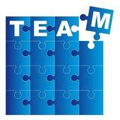 Team puzzle — Stock Vector