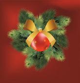 Christmas ball — Stock Vector