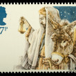 Christmas Postage Stamp — ストック写真