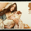 Christmas Postage Stamp - Stock Photo