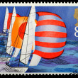 British Sailing Postage Stamp — Foto de stock #7456060