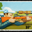 British Sporting Postage Stamp — 图库照片 #7456172