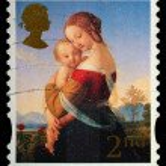 sello postal de Navidad — Foto de Stock