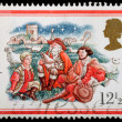 Christmas Postage Stamp — Foto Stock