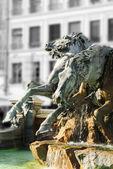 Frozen fountain in Lyon (france) — Stock Photo