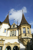 Old city of Neuchatel. Switzerland — Stock Photo