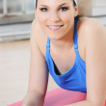 mulher esportiva — Foto Stock