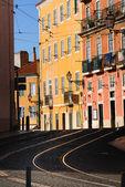 Tram rails in Lisbon, Portugal — Stock Photo
