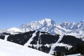 Mont-blanc mountain — Stock Photo