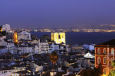 Lisbon city by night — Stock Photo