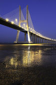 Vasco da Gama bridge, Lisbon, Portugal — Stock Photo