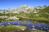 山の頂上と湖 — ストック写真