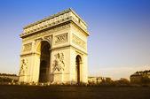 Arco do triunfo. hora do dia. paris, frança — Fotografia Stock