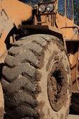 Pneumatico di attrezzature pesanti per l'edilizia — Foto Stock