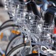 City Hire Bicycles Parked — Stock Photo