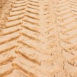 Tire Tracks in the Sand — Foto Stock