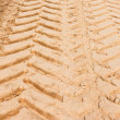 Tire Tracks in the Sand — Foto de Stock