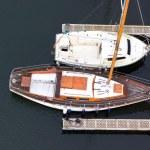 Wooden sailing-boats — Stock Photo