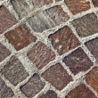 Granite stones pavement — Stock Photo
