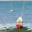 Ebb in Western Brittany - Stockfoto