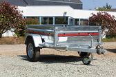 Novo carrinho de carga — Fotografia Stock