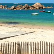 Bretagne beach — Stock Photo