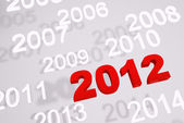 New year 2012 3d render — Stock Photo