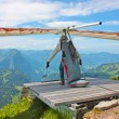 Stok fotoğraf: Hang gliding in Swiss Alps