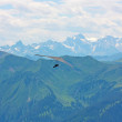 Stock Photo: Hang gliding in Swiss Alps