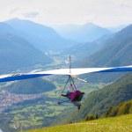 Hang gliding in Slovenia — Stock Photo #6830375