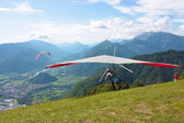 Hang gliding in Slovenia — Stock fotografie