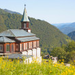 Small church in the Alps — Stok fotoğraf