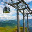 Swiss Alps with ski lifts on foreground — Stock Photo