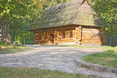 Old wooden house, a museum Uzhhorod — Stock Photo