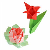 Different origami figures — Stock Photo