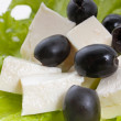 Feta and black olives — Stock Photo