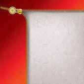 Abstract background with metallic open zipper — Stock Vector