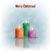 灰色圣诞蜡烛 — 图库矢量图片