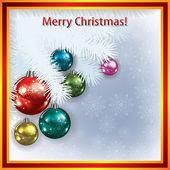 Julgran och dekorationer — Stockvektor