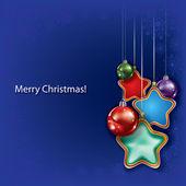 Abstract Christmas greeting — Stock Vector